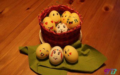 Ostereier bemalen – der Smiley- und Einhorn-Trend