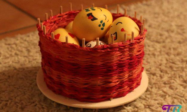 DIY-Osterkorb als Geschenk zu Ostern