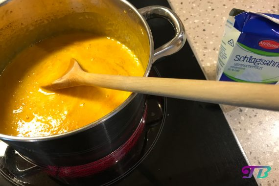 Herbst Kürbis Suppe Sahne