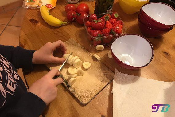 DIY Raclette - Bananen zerkleinern