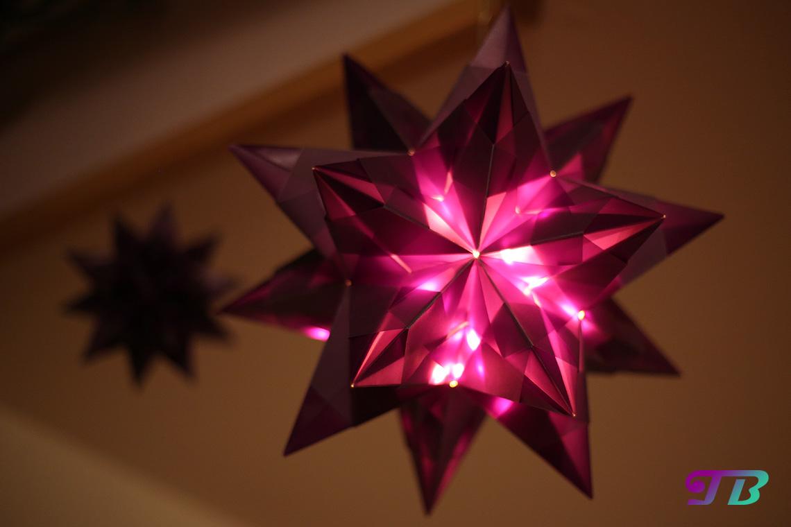 DIY Bascetta Stern lila leuchtend Deko
