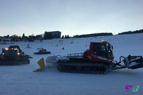 Skifahren Pistenbully Fichtelberg Oberwiesenthal