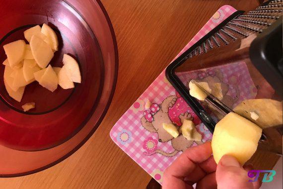 Apfelstrudel Füllung Apfel hobeln