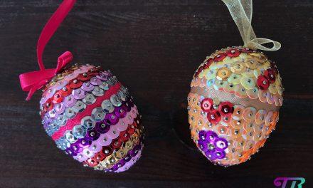 Pailletten-Eier – Selbstgebastelte Geschenke zu Ostern