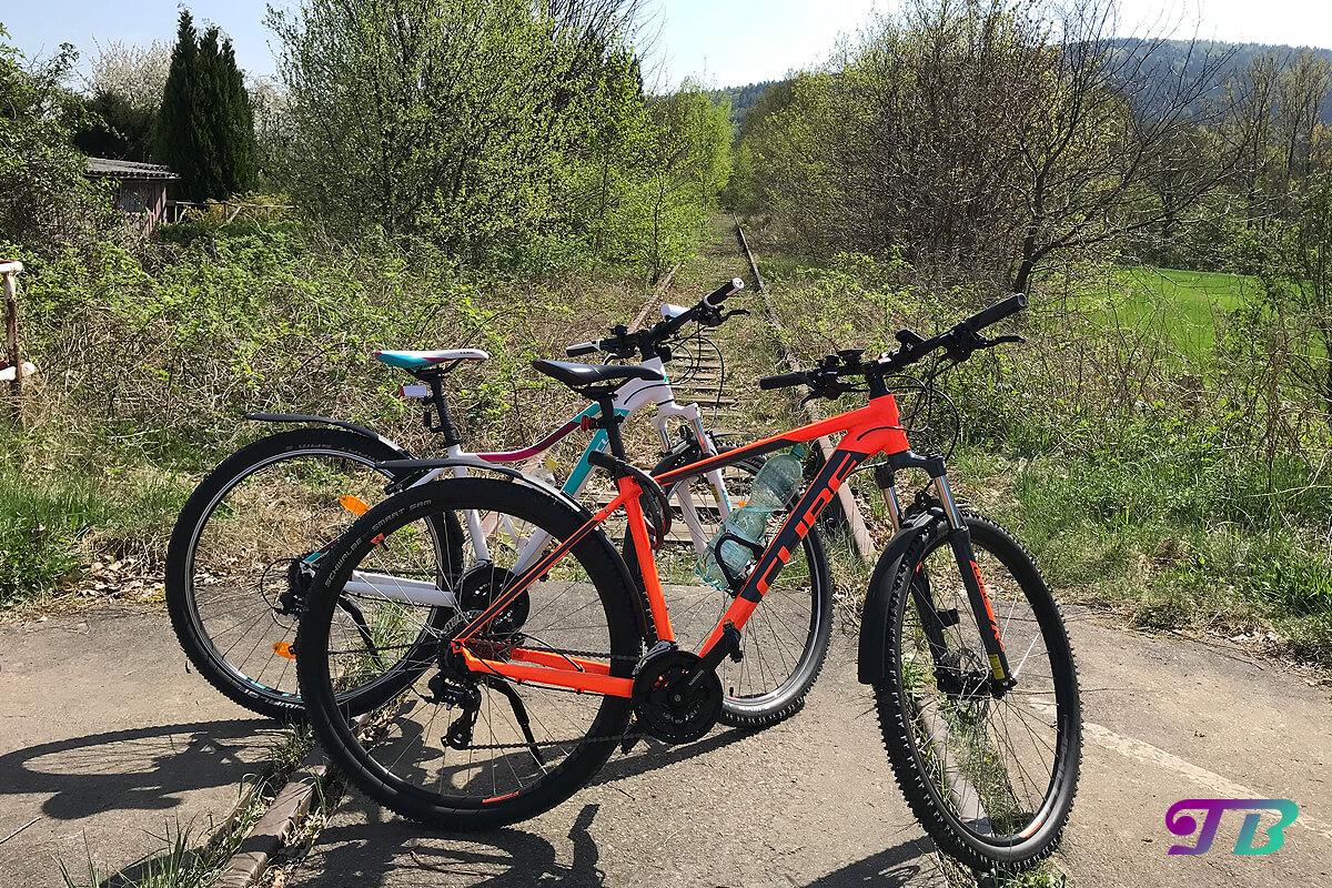 Fahrrad Tour Natur Gleis stillgelegt