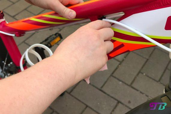 Fahrrad Tour Rahmen putzen frühlingsfit