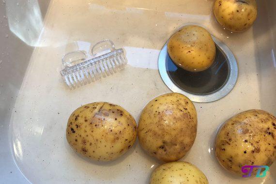 Kartoffelecken Wedges Kartoffeln waschen