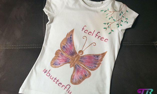 Mein selbstgemaltes Schmetterling – T-Shirt