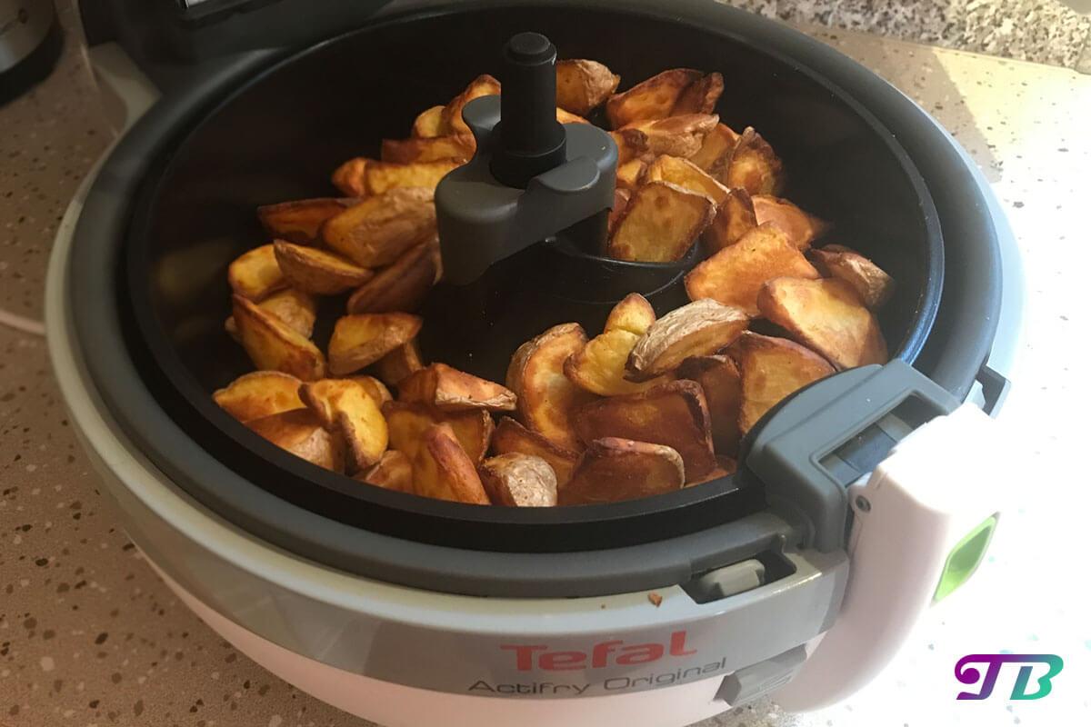 Kartoffelecken – einfach und fettarm mit dem Actifry zubereitet
