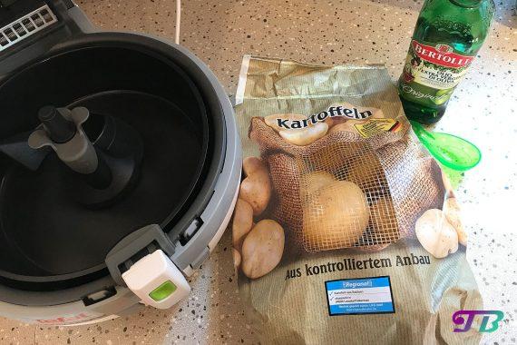 Kartoffelecken Wedges Kartoffeln Actifry Tefal Bertolli Olivenöl