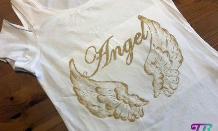 Mein selbstgemaltes Angel- T-Shirt