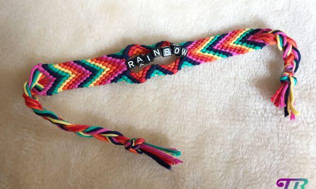 Regenbogen-Armband – jetzt wird bunt geknotet