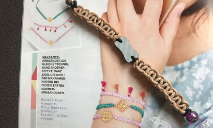 "<span class=""sponsored_text""> Sponsored Post</span> burda accessoires Magazin – Makramee-Armband der besonderen Art"