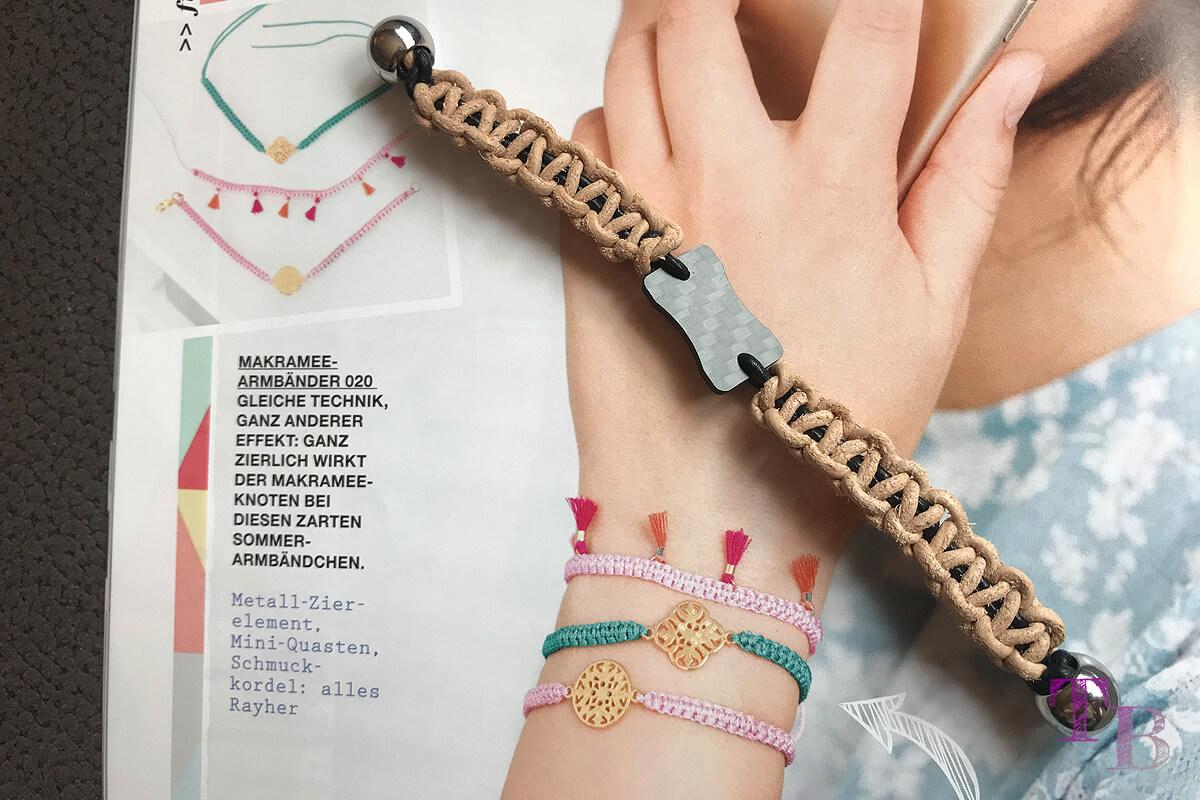 "<span class=""sponsored_text""> Sponsored Post</span> burda accessoires Magazin – Makramee-Armband der besonderen Art"