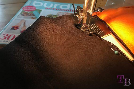 burda accessoires Magazin Clutch Reißverschluss nähen