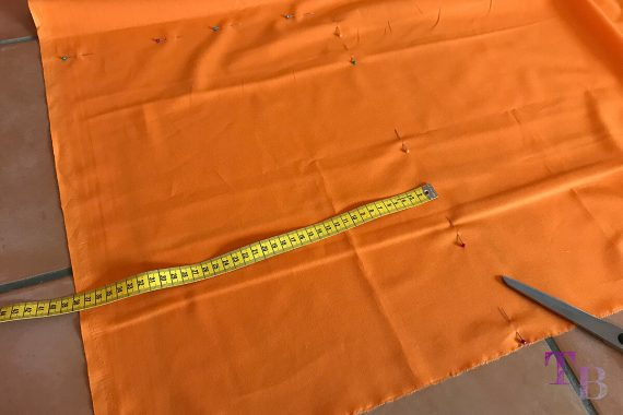 burda accessoires Magazin Clutch Stoff Seitenteil orange
