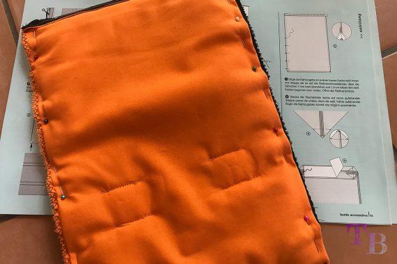 burda accessoires Magazin Clutch Teile zusammenstecken