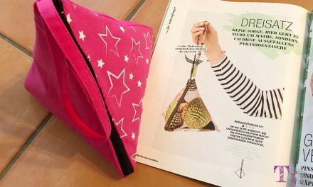 burda accessoires Magazin – coole Pyramidentasche für einen trendigen Style