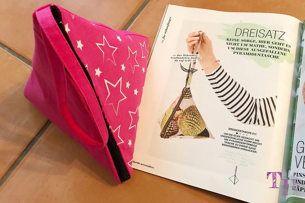 """<span class=""""sponsored_text""""> Sponsored Post</span> burda accessoires Magazin – coole Pyramidentasche für einen trendigen Style"""