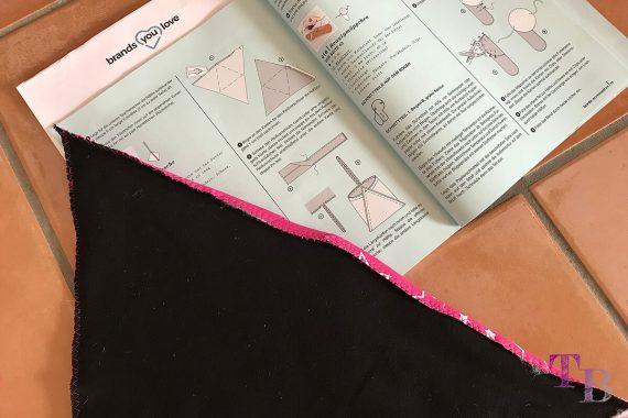 burda accessoires Magazin Pyramidentasche Naht bügeln