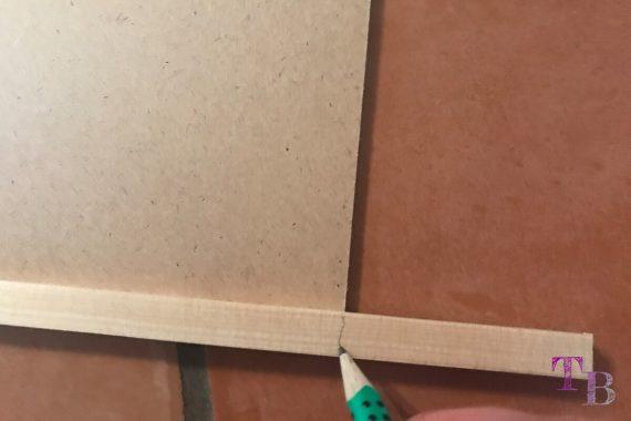 Puzzle Brett DIY Leiste Länge anzeichnen