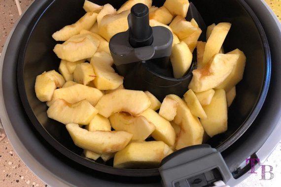 ActiFry Zimt-Äpfel Apfelscheiben Sonnenblumenöl Tefal
