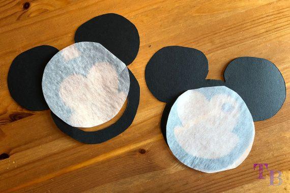 Micky Maus Lampion DIY transparent ausschneiden