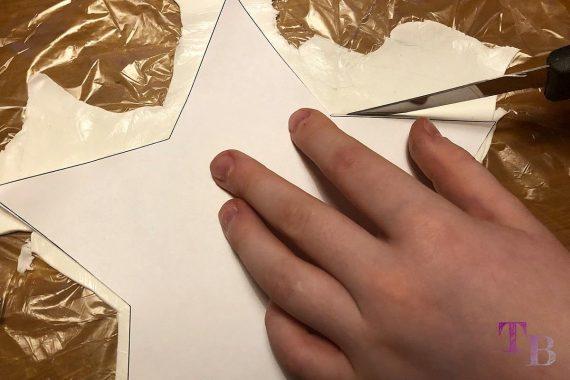 DIY Schneemann Ton Modelliermasse Stern ausschneiden
