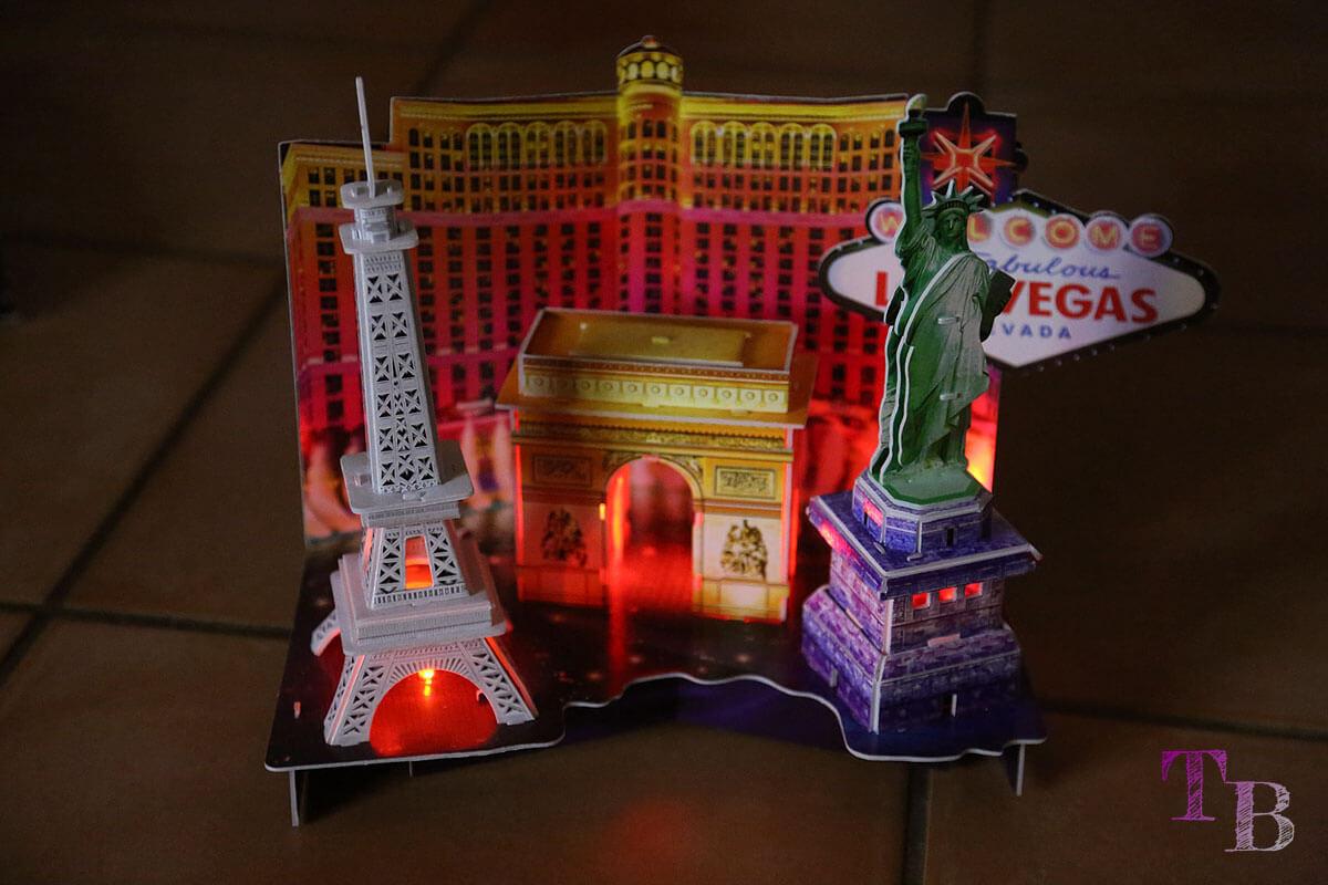 3D Puzzle mit LED-Beleuchtung bei Lidl
