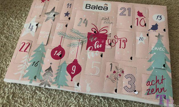 """Balea Adventskalender – viele kleine Produkte im """"lovely moments"""" Design"""