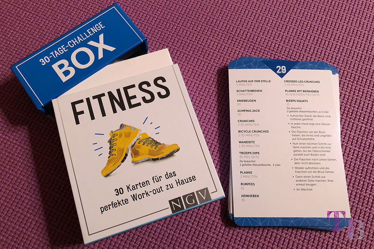 Fitness Challenge Box Übungen Anzahl Lidl