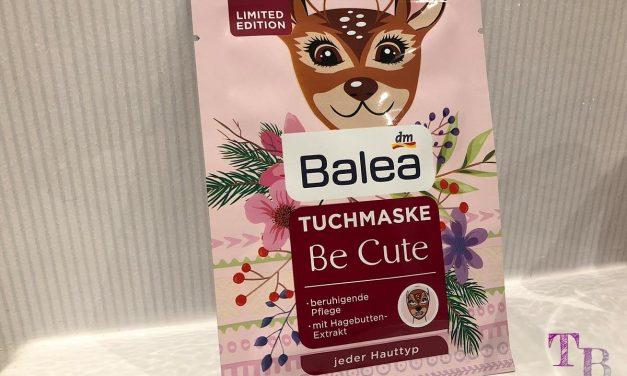 """Verwöhnprogramm mit der Tuchmaske """"Be Cute"""" von Balea"""