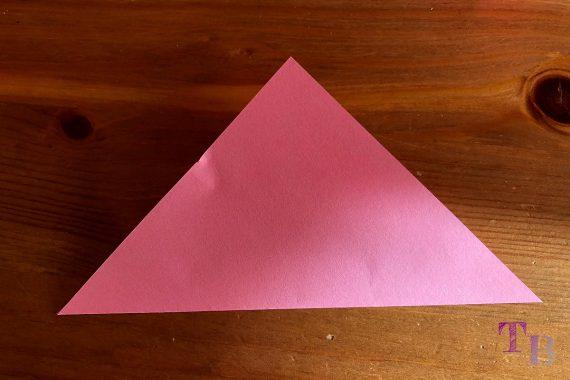 Blüten Papier Kusudama DIY Dreieck falten