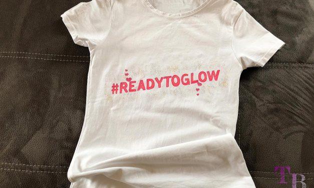 Unser DIY #READYTOGLOW Shirt für die GLOW by dm Stuttgart