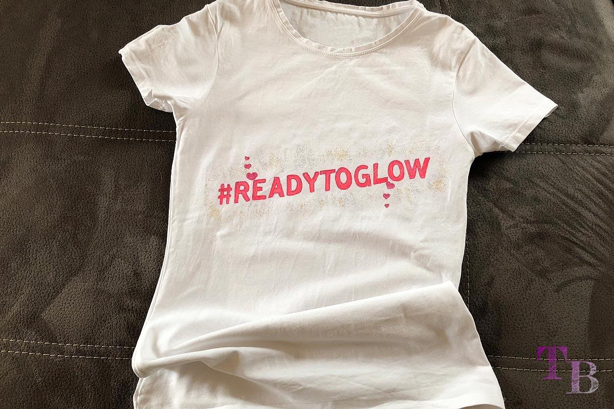 DIY #READYTOGLOW Shirt fertig GLOW by dm Stuttgart