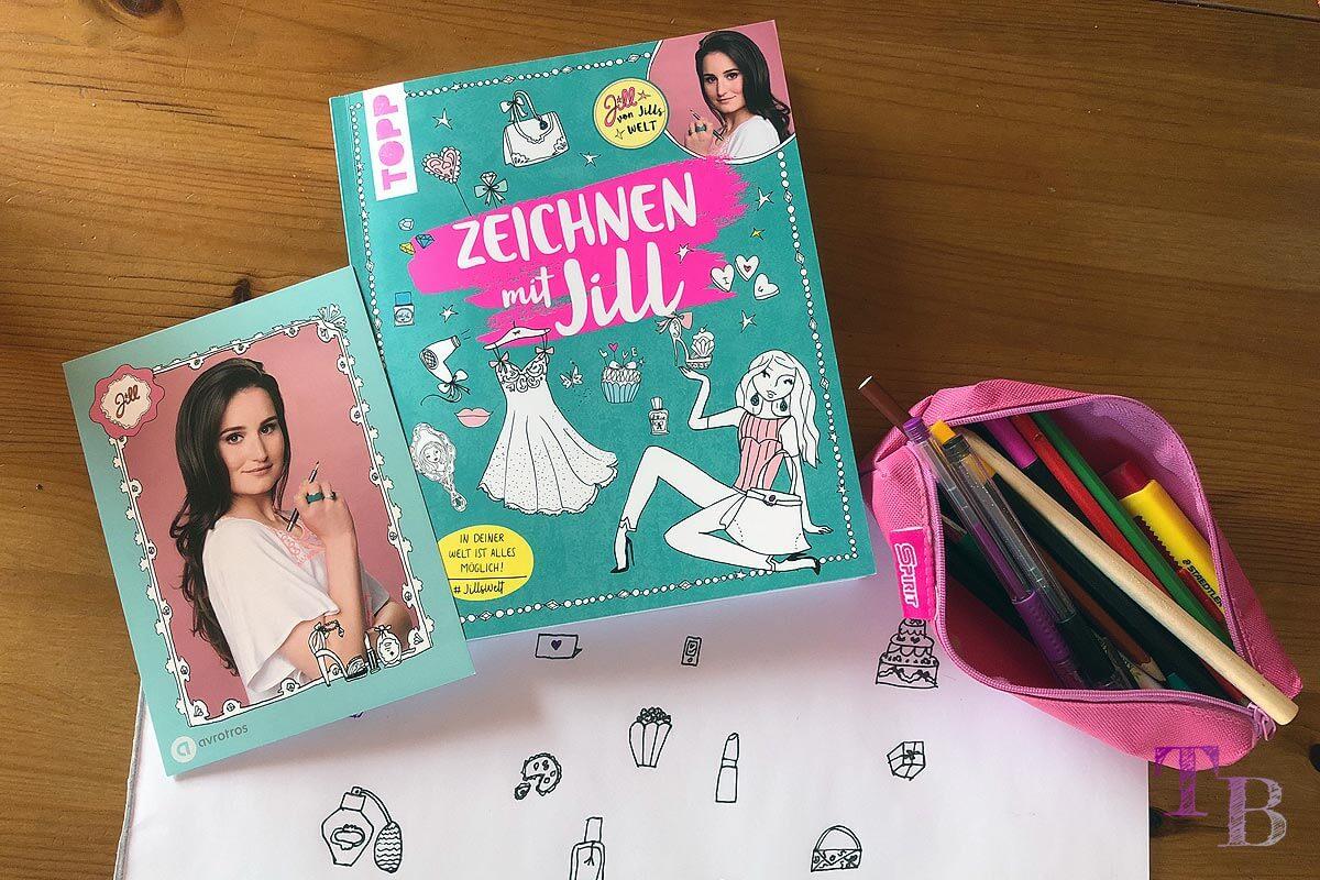 Jills Welt Zeichnen mit Jill Buch Einblick Autgrammkarte