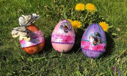 Lastminute DIY-Ostergeschenk – Dekoratives Styropor-Ei selbstgemacht