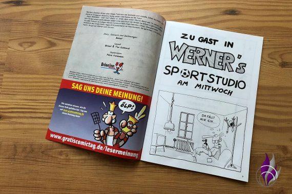 Gratis Comic Tag 2019 Werner Einblick