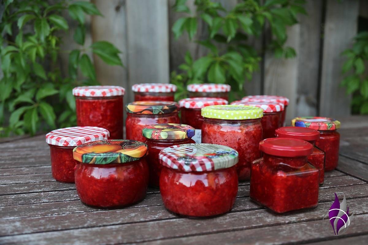 Erdbeermarmelade Prep&Cook Erdbeeren fertig Gläser
