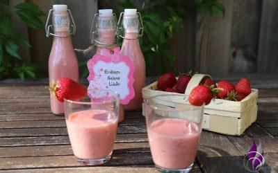 Sponsored Post Erdbeer-Sahne-Likör im Prep&Cook von Krups zubereiten
