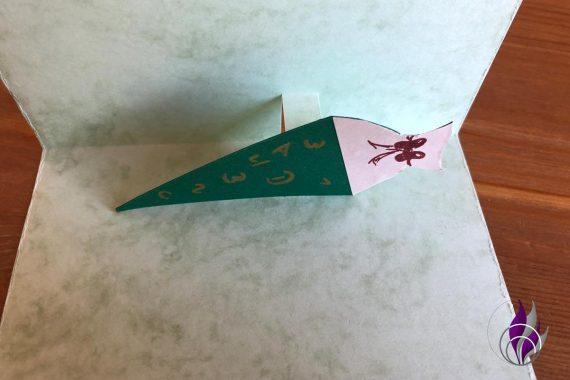 Popup Karte Einschulung Zuckertüte kleben