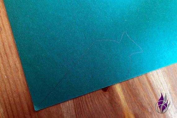 Pop up Karte Einschulung Zuckertüte zeichnen