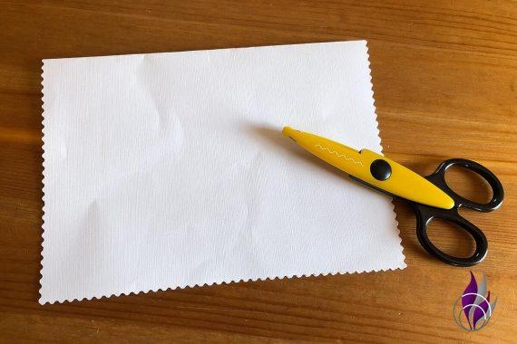 Pop up Karte Geburtstag Deckblatt zackeln