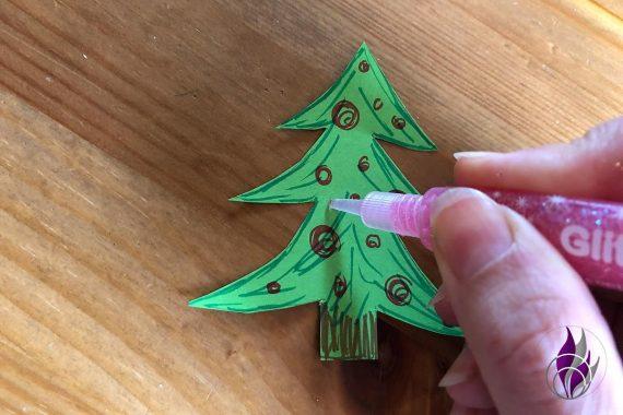 3D Popup Karte Weihnachten Tannenbaum