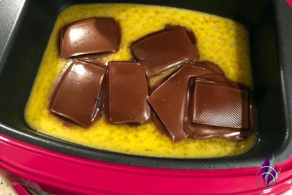 Backautomat Schokolade schmelzen