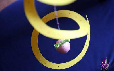 Dekospirale mit Styroporei – eine schöne Idee zu Ostern