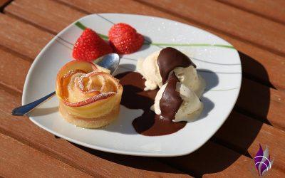 Apfel-Blätterteigrosen – leckeres Rezept nicht nur für die Cake Factory
