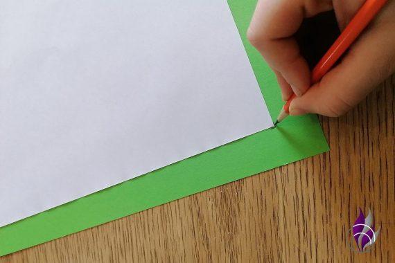 fun4family DIY Sammelmappe Blatt Ecken markieren