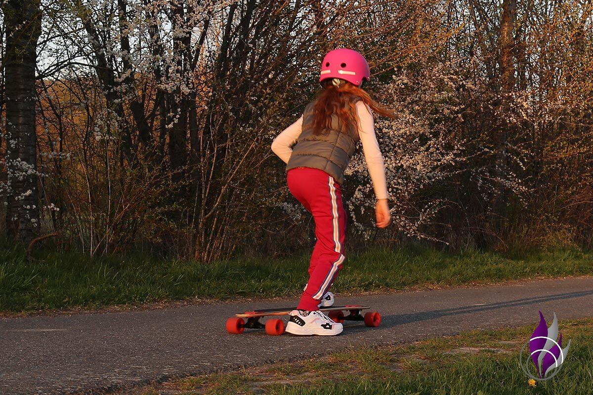 fun4family Longboard fahren abstoßen