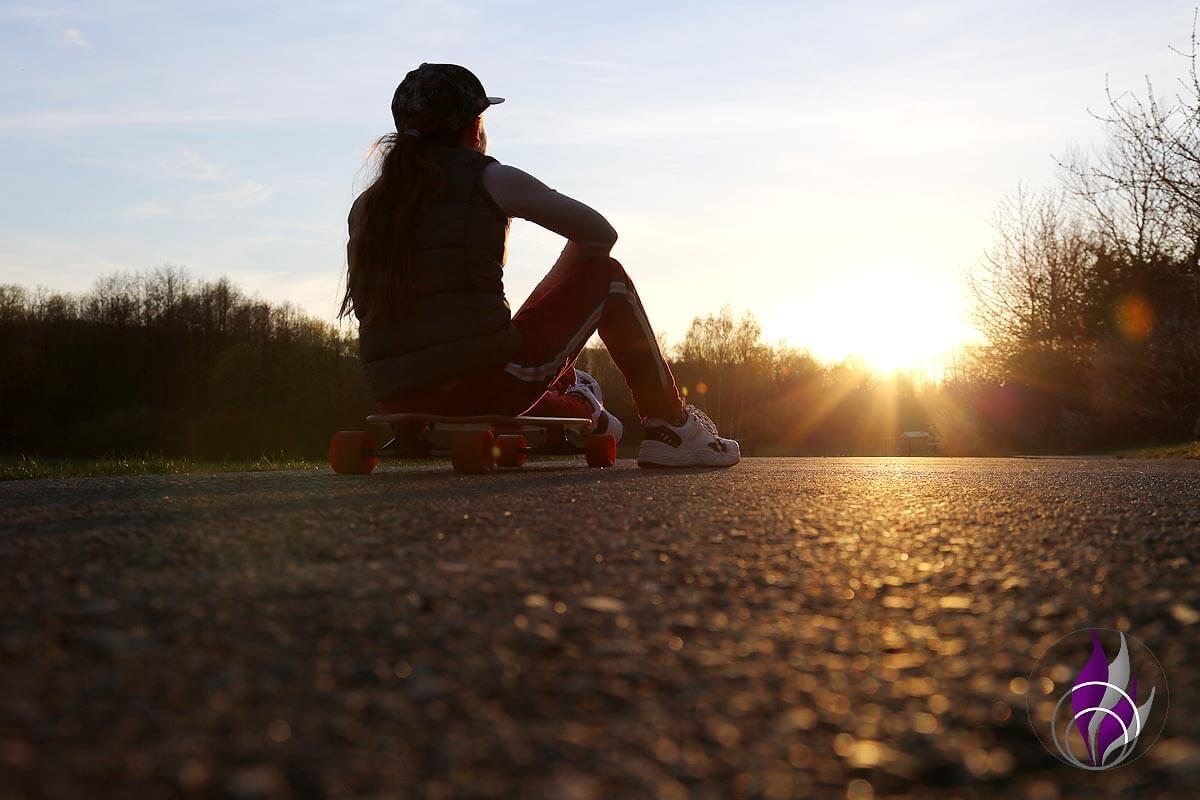 fun4family Longboard Sonnenuntergang